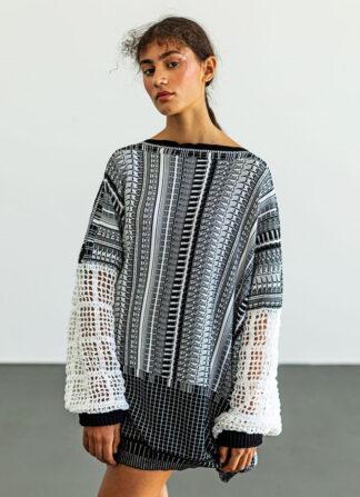 Crochet Sleeves Sweater Susana Bettencourt SCAR-ID