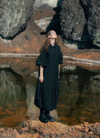 Black Long Shirt Nopin