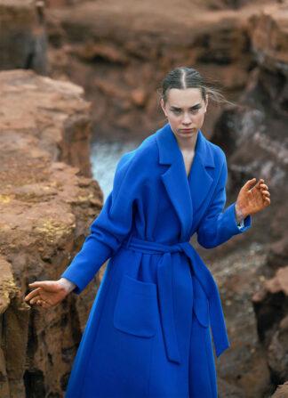 Blue Long Coat Nopin
