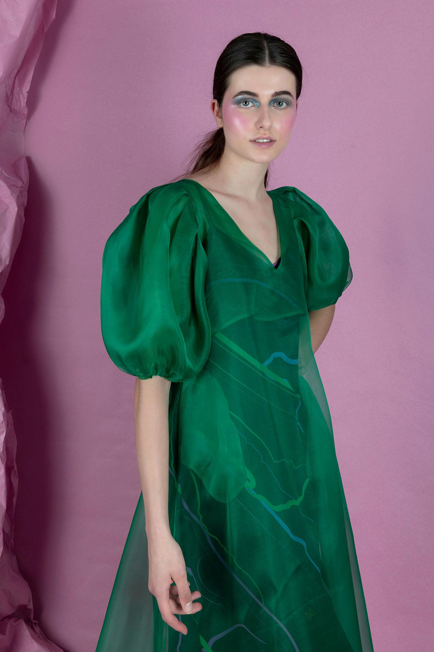 Green Multi Dress Nopin