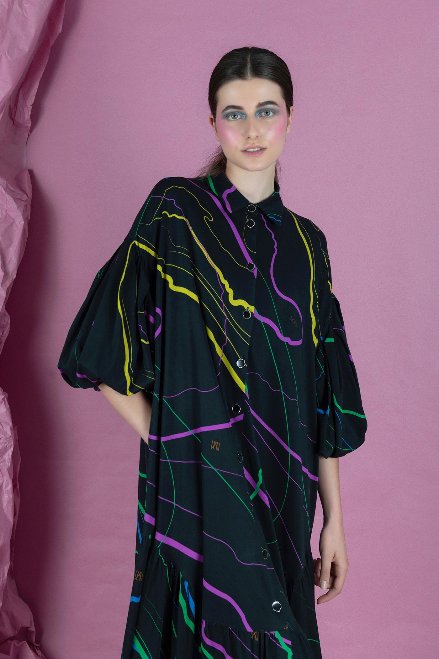 Nopin Multi Shirt Dress