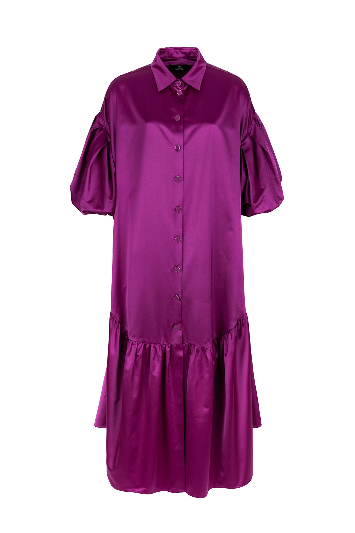 Purple Shirt Dress Nopin